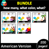 Adapted book GROWING BUNDLE: how many, what color, what? American Version