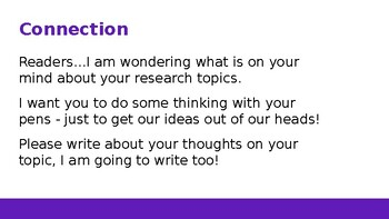 Adapted from Lucy Calkins Informational Reading- 4th Grade Unit 2 - Session 11