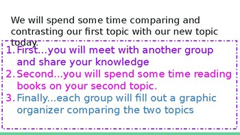 Adapted from Lucy Calkins Informational Reading- 4th Grade Unit 2 - Session 14
