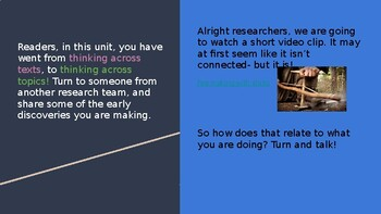 Adapted from Lucy Calkins Informational Reading- 4th Grade Unit 2 - Session 16