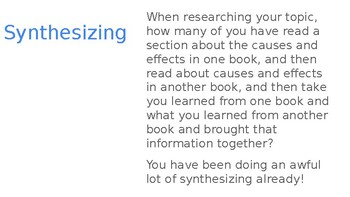 Adapted from Lucy Calkins Informational Reading- 4th Grade Unit 2 - Session 9