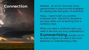 Adapted from Lucy Calkins Informational Reading- 4th Grade Unit2Session 7 Day 1