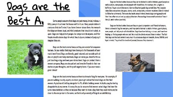 Adapted from Lucy Calkins Opinion 4th Grade Unit 2 - Session 10