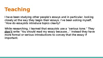 Adapted from Lucy Calkins Opinion 4th Grade Unit 2 - Session 13 part 1