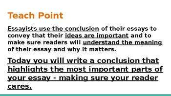 Adapted from Lucy Calkins Opinion 4th Grade Unit 2 - Session 13 part 2