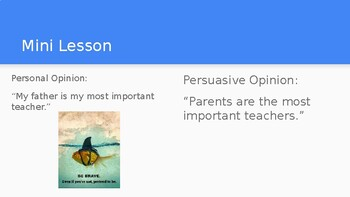 Adapted from Lucy Calkins Opinion 4th Grade Unit 2 - Session 16.5