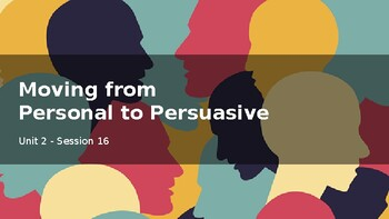 Adapted from Lucy Calkins Opinion 4th Grade Unit 2 - Session 16 - Persuasive