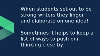 Adapted from Lucy Calkins Opinion 4th Grade Unit 2 - Session 4 - PUSH our...