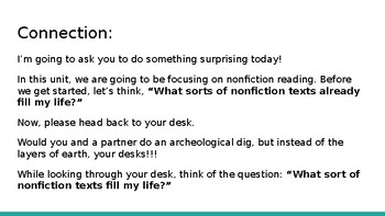Adapted from Lucy Calkins Reading Informational 4th Grade Unit 2 - Session 1