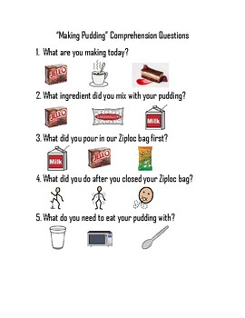 Adapted pudding activity