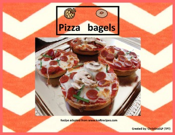 Adapted cooking recipe - Pizza bagels