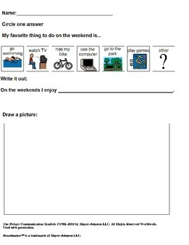 Adapted writing for students with Autism