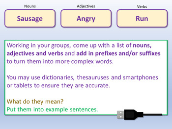 Adapting Vocabulary (1hr PP, clips, worksheets, lesson plan)