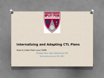 Adapting lesson plans powerpoint