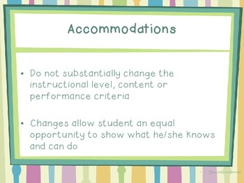 Adapting the Curriculum for Students with Disabilities (Presentation)
