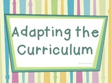 Adapting the Curriculum for Students with Disabilities (Pr