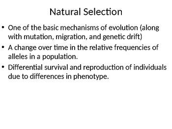 Adaption of Populations Presentation