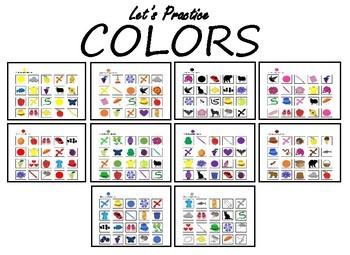 Adaptive Binder/Worksheets: Colors