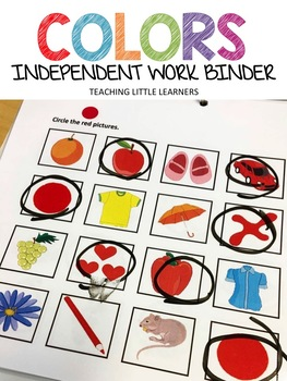 Adaptive Binder/Worksheets: Colors