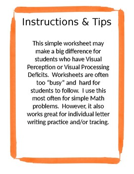 Adaptive Block Practice Worksheet