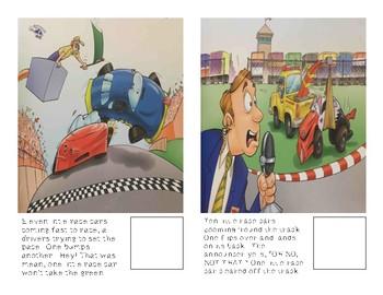 Adaptive Book- 12 Little Race Cars