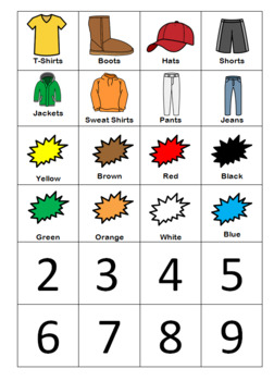Adaptive Book: Version Clothes- How Many? What is it? Count it.