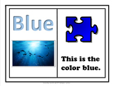 Adaptive Book on the Color Blue
