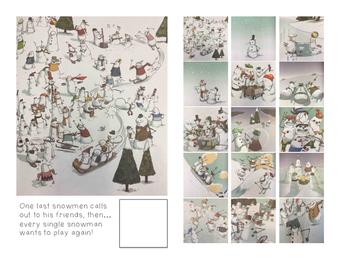 Adaptive Books- 100 Snowmen