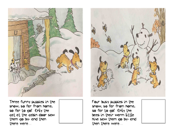 Adaptive Books- Puppies in the snow
