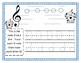 Adaptive Music Worksheet- EGBDF  Tracing