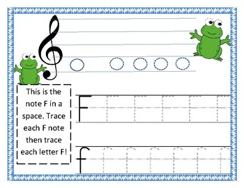 Adaptive Music Worksheets- Lines and Spaces Tracing