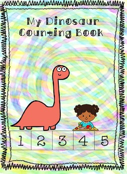 Adaptive OR Print and Go Dinosaur Themed Cut and Paste Counting Book