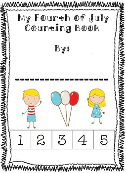 Adaptive OR Print and Go Fourth of July Themed Cut and Paste Counting Book