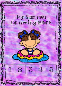 Adaptive OR Print and Go Summer Themed Cut and Paste Counting Book