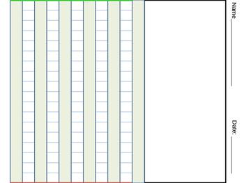 Adaptive Visual Prompt Writing Paper for visual-spatial organization of print