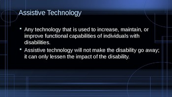 Adaptive and Assistive Technology Overview and Quiz