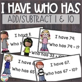 Add 1, Add 10, Subtract 1, Subtract 10 I Have Who Has Game