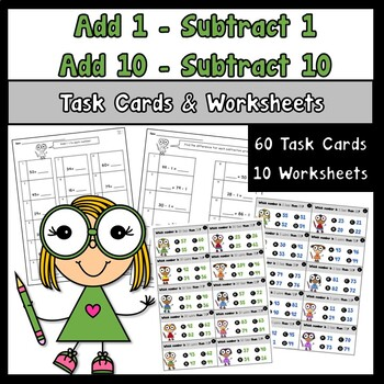 Add 1 Subtract 1 Add 10 Subtract 10 using 2 Digit Numbers