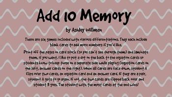 Add 10 Memory