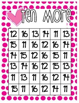 Add 10 More Bingo