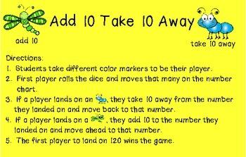 Add 10 Take 10 Away