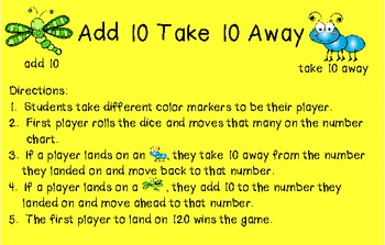 Add 10 Take 10 Away