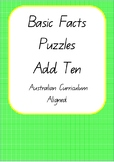 Add 10 Teen Number Self-correcting Puzzle- Australian Curr