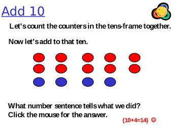 Add 10 Using a Tens Frame