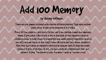 Add 100 Memory