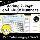 Add 2-Digit and 1-Digit Numbers-Student Mat (First Grade, 1.NBT.4)