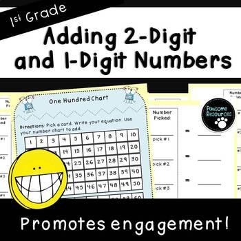 Add 2-Digit and 1-Digit Numbers-Student Mat (First Grade, 1.NBT.4)