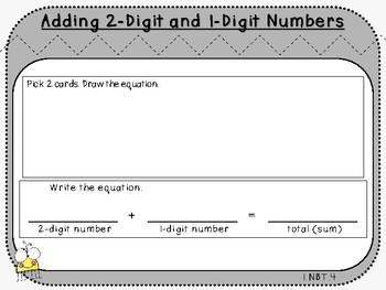 Add 2-Digit and 1-Digit Numbers-Student Mats (First Grade, 1.NBT.4)