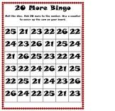 Add 20 Bingo