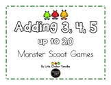 Add 3, 4, 5 up to 20 Monster Scoot Games
